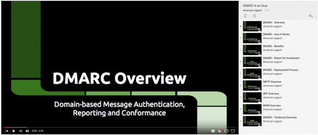 Videos on all things DMARC