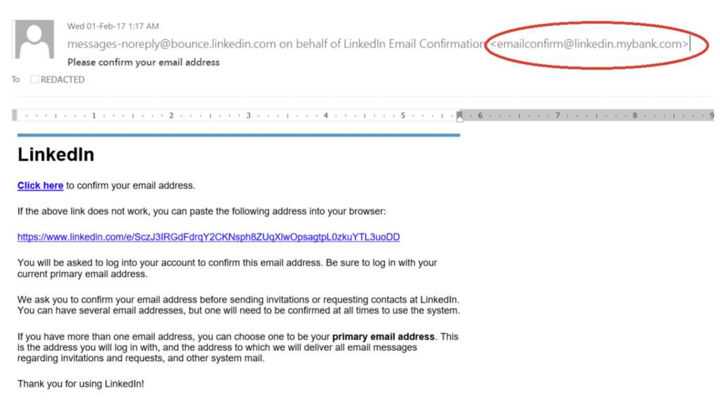 LinkedIn Subdomain Abuse Example