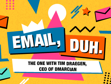 "banner image of ""email, duh interview with Tim Draegen"