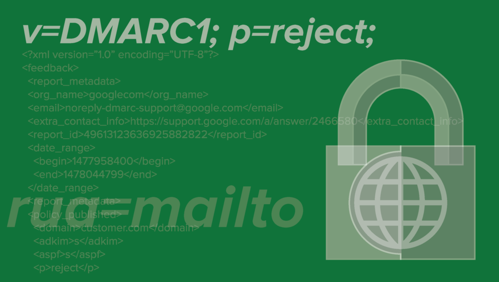 p=reject DMARC record image