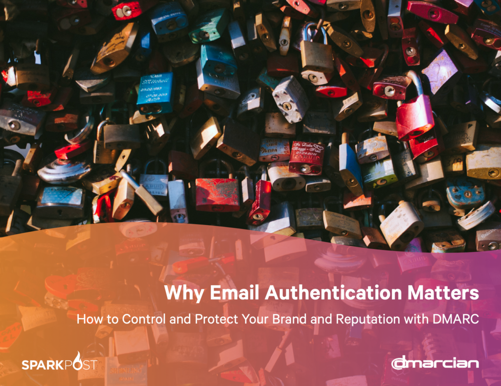 White paper cover photo for email authentication