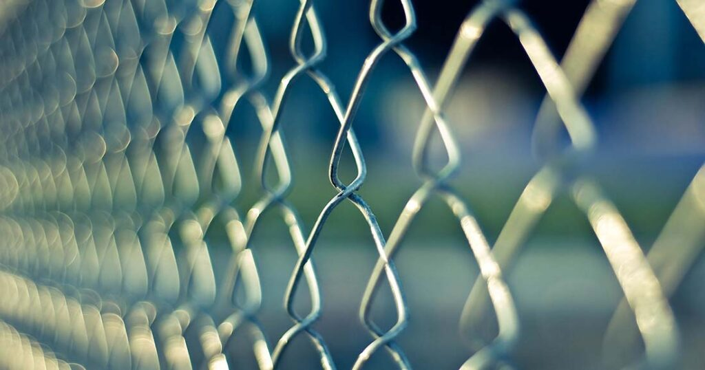 photo of chain link fence for ransomware article